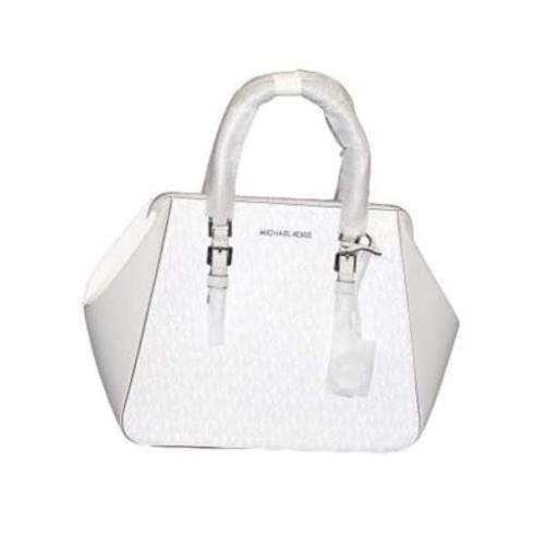 Michael Kors Charlotte Large satchel (aluminum)