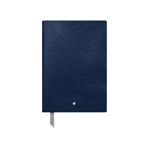 Montblanc Notebook Indigo Squared #146 Fine Stationery 113639 – Elegant Journal with Leather Binding and Quadrille Pages – 1 x (5.9 x 8.2 in.)
