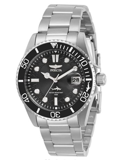 Invicta Women's Pro Diver Quartz Watch with Stainless Steel Strap, Silver, 20 (Model: 30479) …