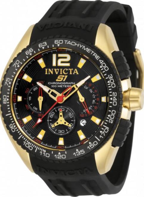 Invicta Men's 33629 S1 Rally Quartz Chronograph Black Dial Watch