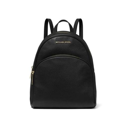 Michael Kors Abbey Medium Pebbled Leather Backpack - Black …