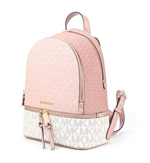 Michael Kors Rhea Zip Medium Backpack Ballet Multi One Size …
