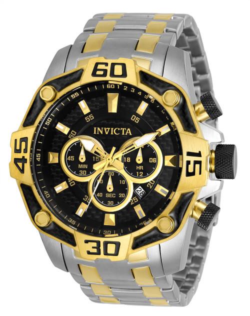 Invicta Men's 33853 Pro Diver Quartz Chronograph Black Dial Watch