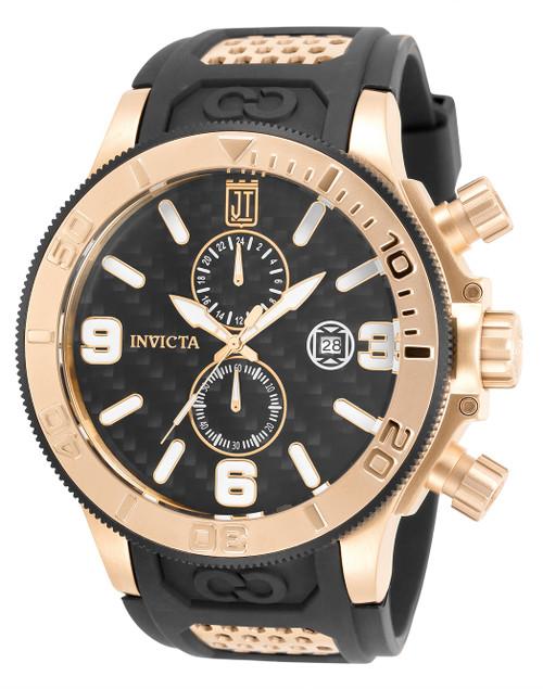 Invicta Men's 33981 Jason Taylor Quartz Multifunction Black Dial Watch