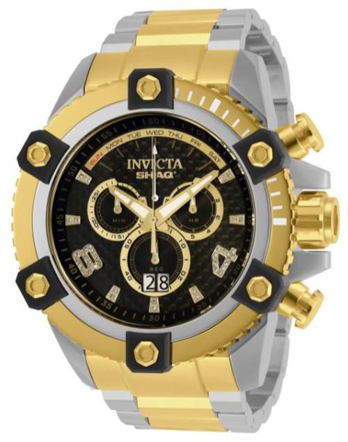 invicta Men's 33727 SHAQ Quartz Chronograph Black Dial Watch