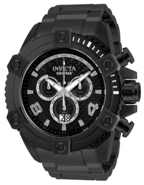 invicta Men's 33728 SHAQ Quartz Chronograph Black Dial Watch