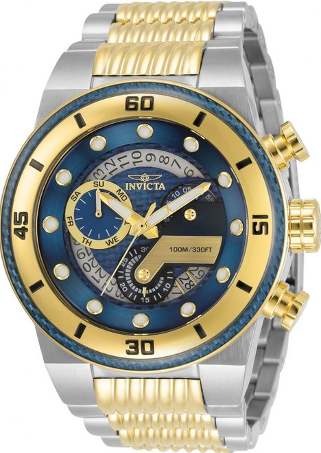 Invicta Men's 33284 S1 Rally Quartz Multifunction Blue Dial Watch