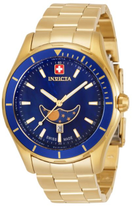 Invicta Men's 33465 Pro Diver Quartz Chronograph Blue Dial Watch