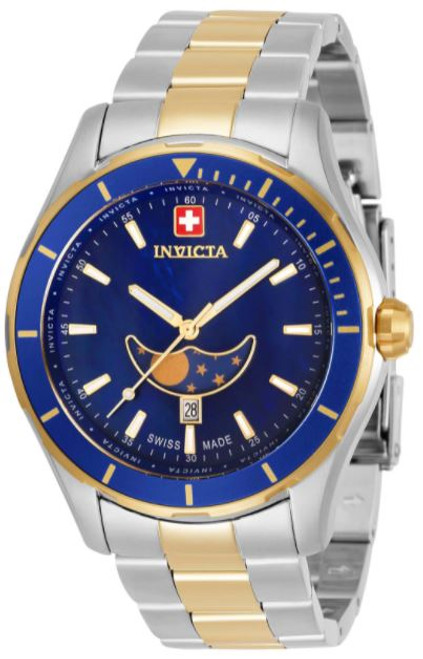 Invicta Men's 33467 Pro Diver Quartz Chronograph Blue Dial Watch