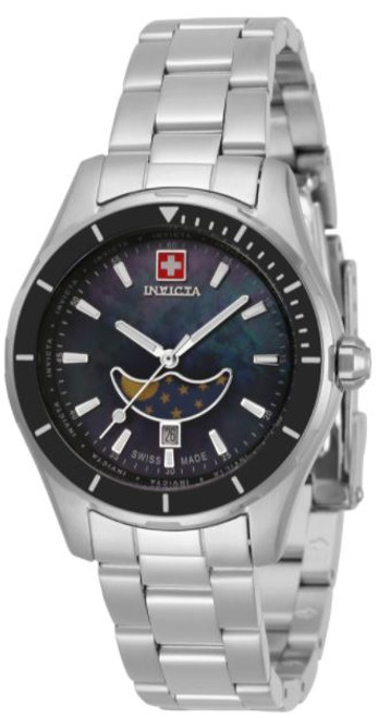Invicta Women's 33468 Pro Diver Quartz 3 Hand Black Dial Watch