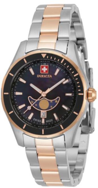 Invicta Women's 33471 Pro Diver Quartz 3 Hand Black Dial Watch