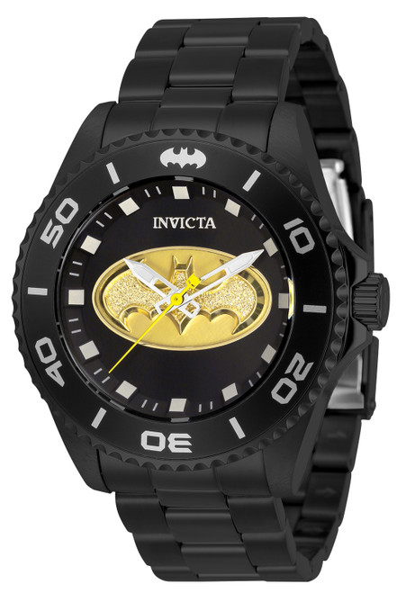 Invicta Men's 32382 DC Comics Quartz 3 Hand Black Dial Watch
