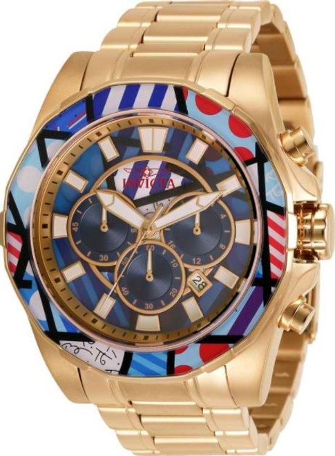 Invicta Men's 32400 Britto Quartz Chronograph Blue, Purple, White, Red Dial Watch