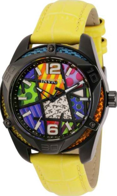 Invicta Women's 32403 Britto Quartz Chronograph Blue, Green, Yellow, Orange, Purple, White Dial Watch