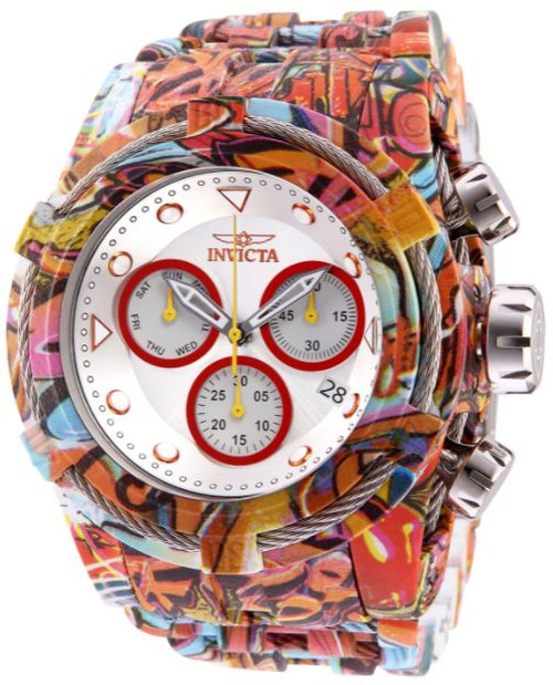 Invicta Men's 32416 Bolt Quartz Chronograph Red, Antique Silver Dial Watch