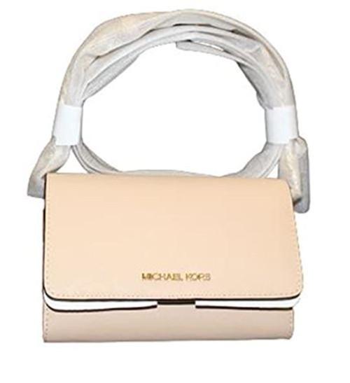 Michael Kors Jet Set Large Saffiano Leather Convertible Phone Crossbody Bag (buff) …