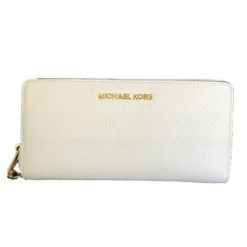 Michael Kors Jet Set Travel Large Travel Leather Continental Wallet (Light Cream)