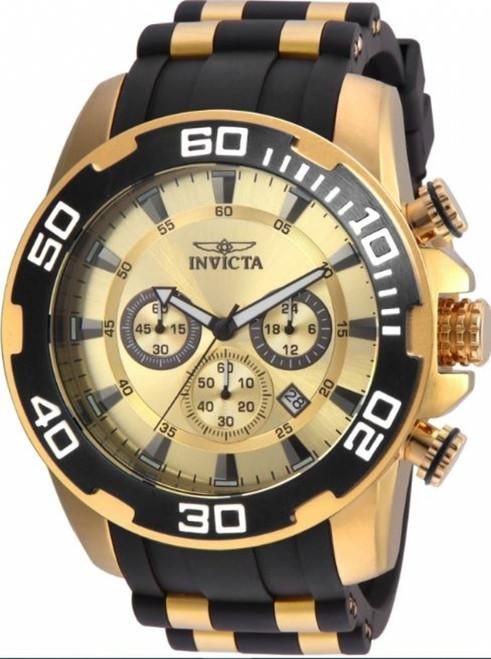 Invicta Men's Pro Diver Quartz Watch with Silicone Strap, Black, 26 (Model: 22346)