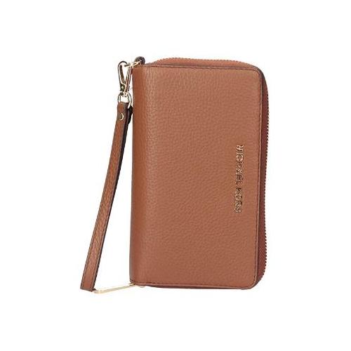 Michael Kors Jet Set LG Luggage Leather Multifunction Phone Wristlet Wallet …