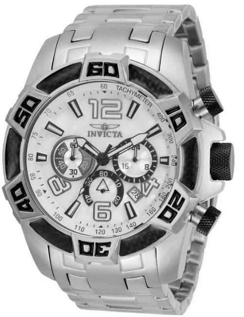 Invicta Men's 34747 Pro Diver Quartz Chronograph White Dial Watch