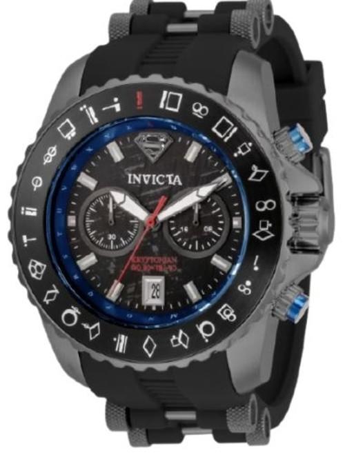 Invicta Men's 34861 DC Comics Quartz Multifunction Blue, Red, Gunmetal, Black Dial Watch