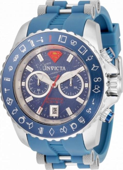 Invicta Men's 34862 DC Comics Quartz Multifunction Blue, Red, Silver, Yellow Dial Watch