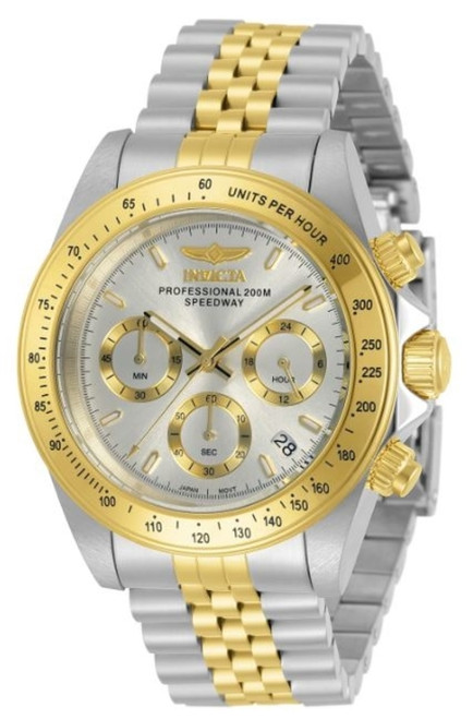 Invicta Men's 30991 Speedway Quartz Chronograph Silver Dial Watch