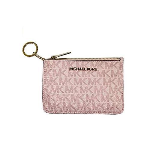Michael Kors Jet Set Travel Small Top Zip Coin Pouch ID Card Case Wallet (Ballet Pink 2020) …
