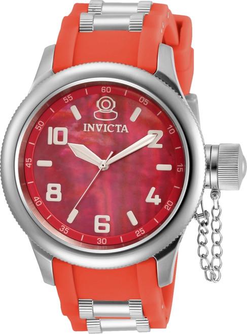 Invicta Women's 31248 Russian Diver Quartz 3 Hand Red Dial Watch