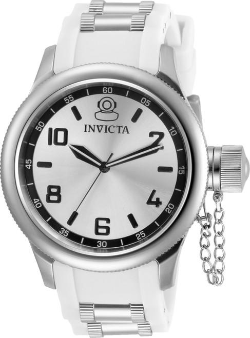 Invicta Women's 31249 Russian Diver Quartz 3 Hand Silver Dial Watch