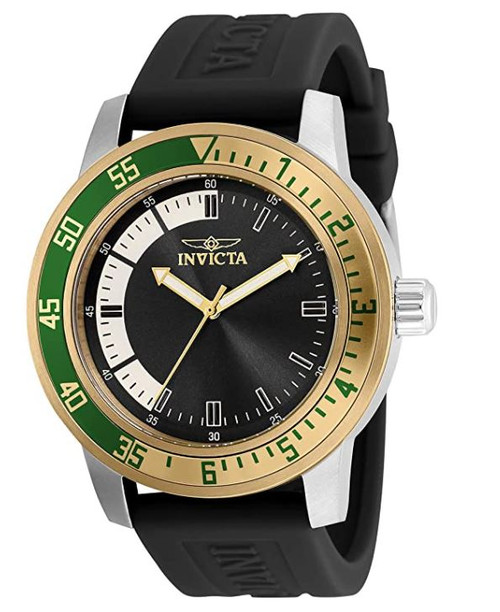 Invicta Men's Specialty Stainless Steel Quartz Watch with Silicone Strap, Black, 22 (Model: 35679) …