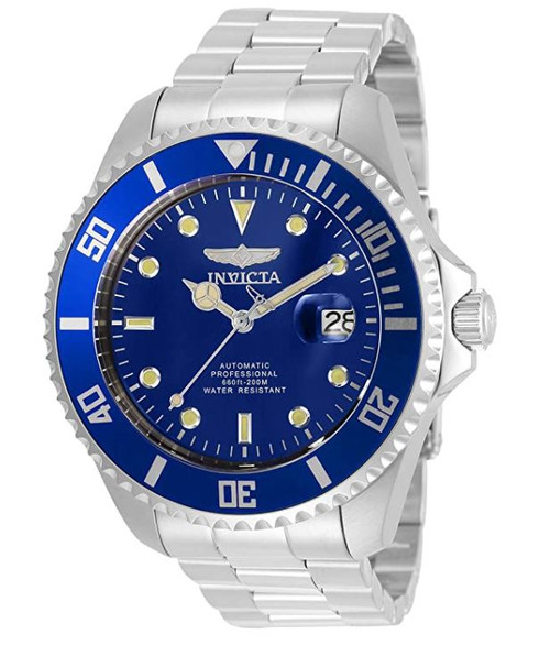 Invicta Men's Pro Diver 47mm Stainless Steel Automatic Watch, Silver (Model: 35718) …