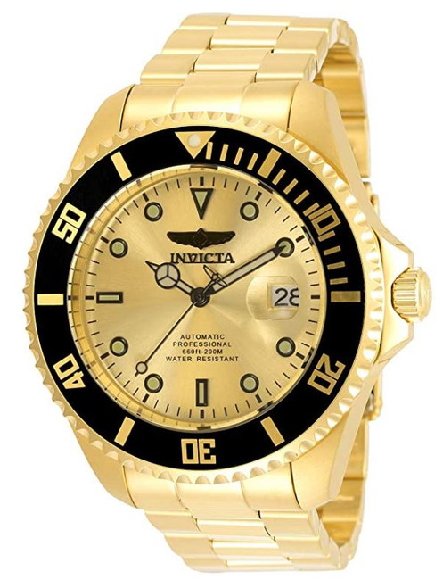 Invicta Men's Pro Diver 47mm Stainless Steel Automatic Watch, Gold (Model: 35723)