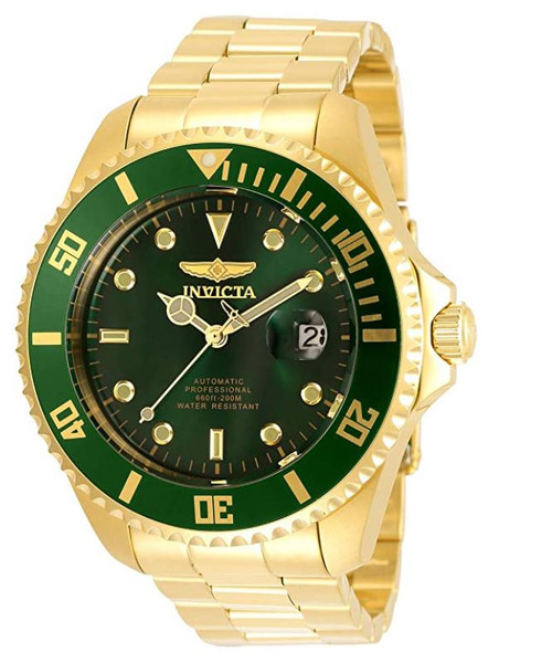 Invicta Men's Pro Diver 47mm Stainless Steel Automatic Watch, Gold (Model: 35724) …