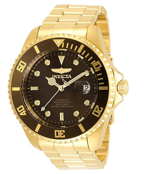Invicta Men's Pro Diver 47mm Stainless Steel Automatic Watch, Gold (Model: 35725) …