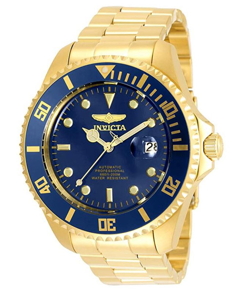 Invicta Men's Pro Diver 47mm Stainless Steel Automatic Watch, Gold (Model: 35726)