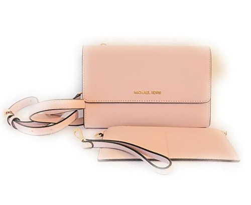 Michael Kors 3 In 1 Crossbody Bag With Removable Pouch (Powder Blush)