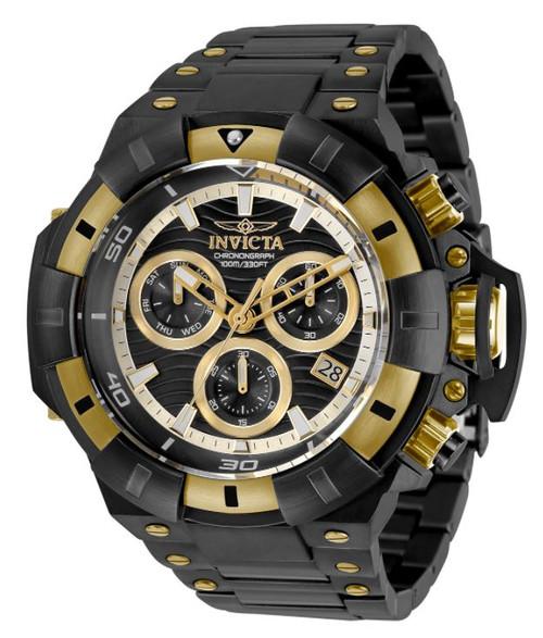 Invicta Men's 31870 Akula Quartz Chronograph Black Dial Watch