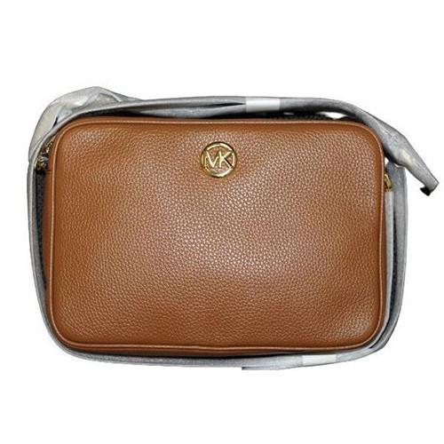 Michael Kors Women's Fulton Large EW Leather Cross Body Bag (luggage) …