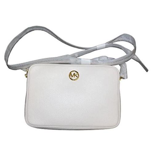 Michael Kors Women's Fulton Large EW Leather Cross Body Bag (lt cream) …