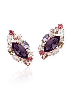 Past Midnight Stud Earrings - Rose Gold