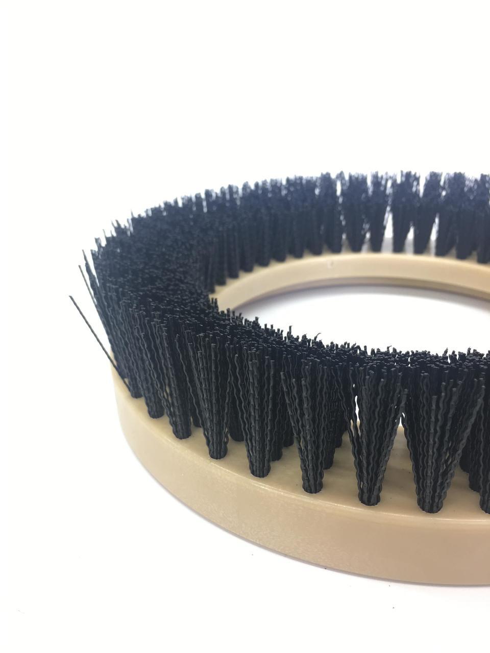 """9"""" Flat Extra Coarse Brush, Outside Bevel, Nylon, #4 brush alone"""