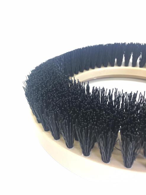 """9"""" Flat Extra Coarse Brush, Inside Bevel, PolyPro, #4 brush alone"""