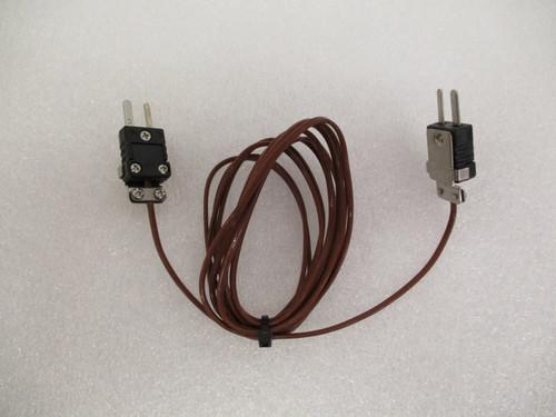 Extension Cable, J-Type T/C, 6'L, Male-Male Mini Connectors