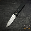 ProTech proudly offers its collaborative design with Prometheus Design Werx. Stonewashed 154CM stainless steel blade.
