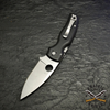 The stonewash-finished blade is housed in an exceptionally refined, ergonomic handle built with nested skeletonized stainless steel liners and contoured matte-finished G-10 scales.