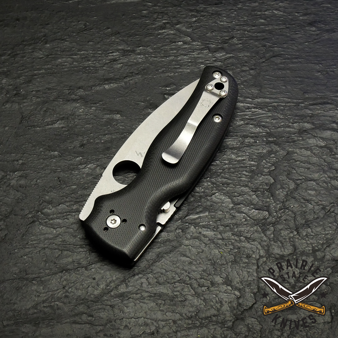 This robust construction forms the foundation of the knife's high-strength Compression Lock® mechanism, which locks the blade securely open and allows safe, easy one-handed closing.