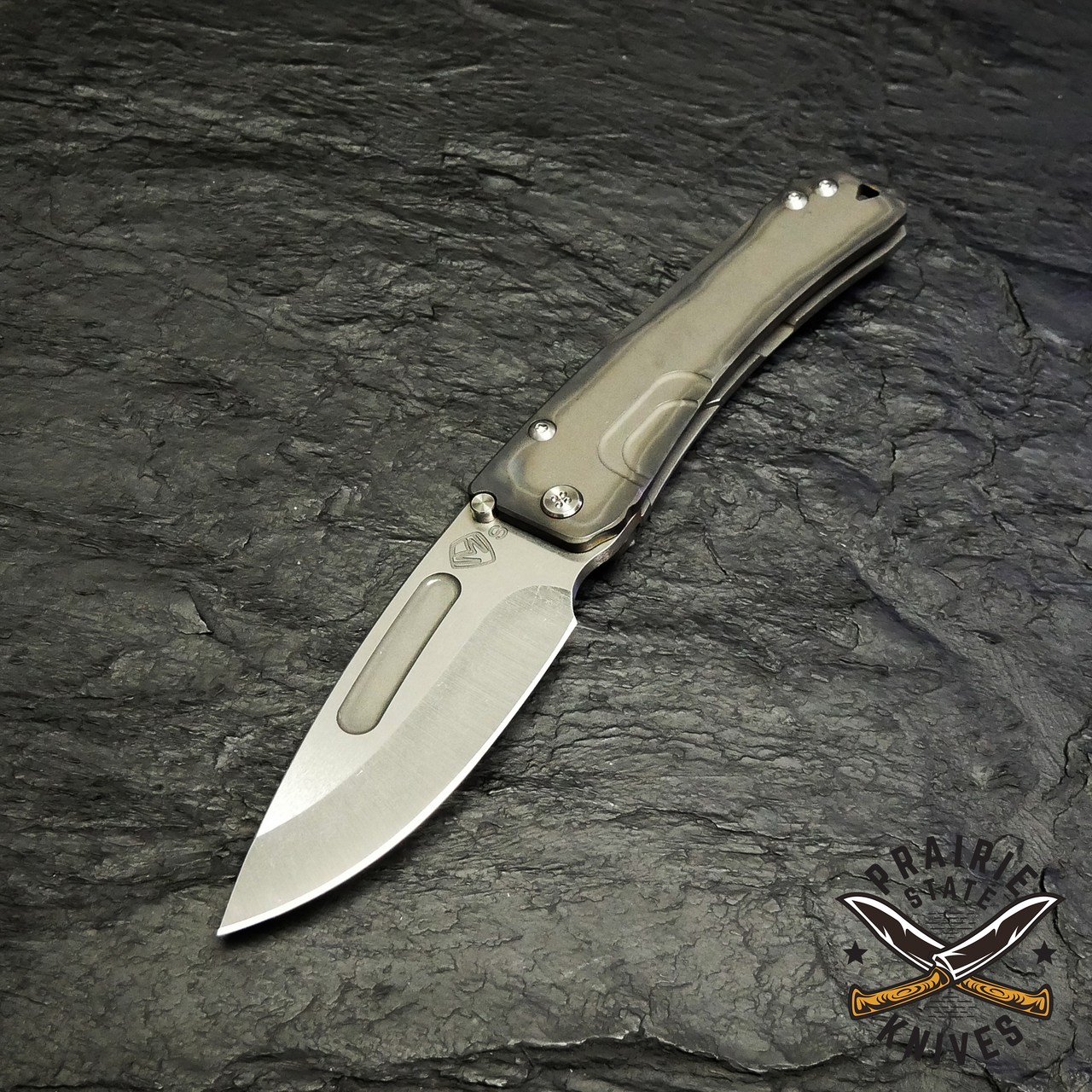 Medford Knives Slim Midi with s35VN blade, Flamed and tumbled handle finish.