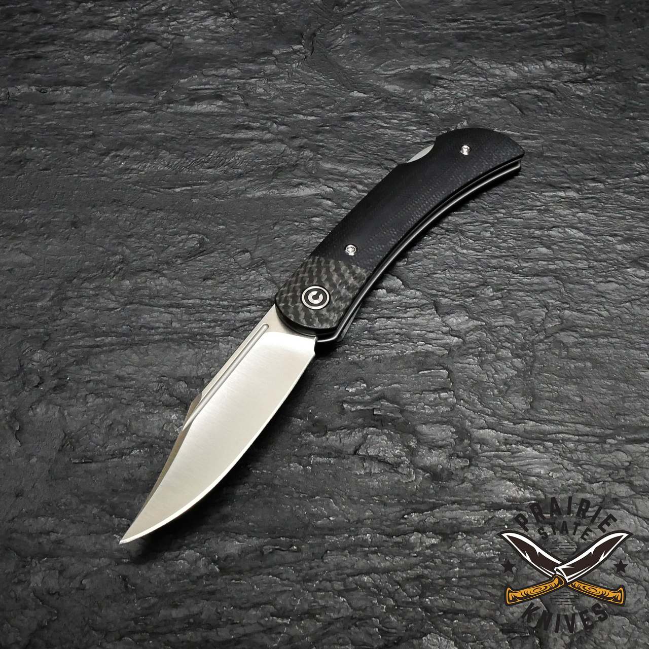 CIVIVI Rustic Gent Lock Back Knife Black G10
