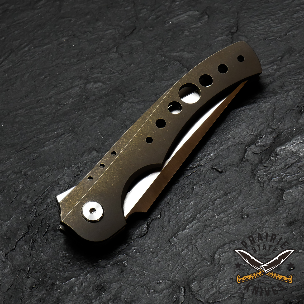 Ti Framelock with Milled Holes
